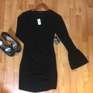 72861eac5c Express Dresses - {express} 🆕 v-neck bell sleeve ruched dress